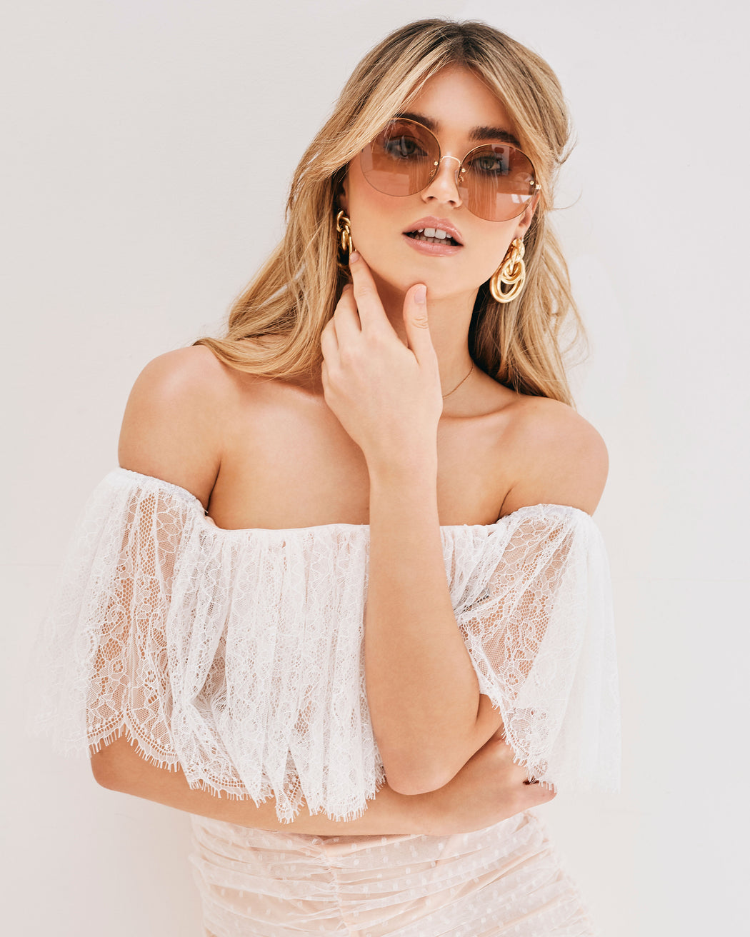 Luna White Lace Off The Shoulder Dress