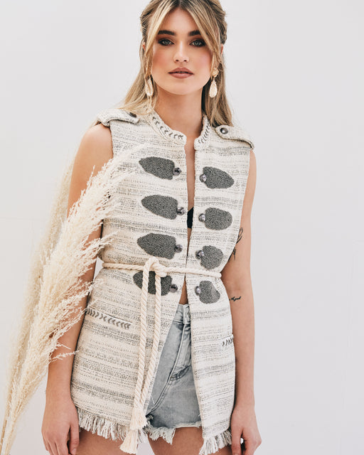 Marina Beaded Waistcoat - Lavand Stories