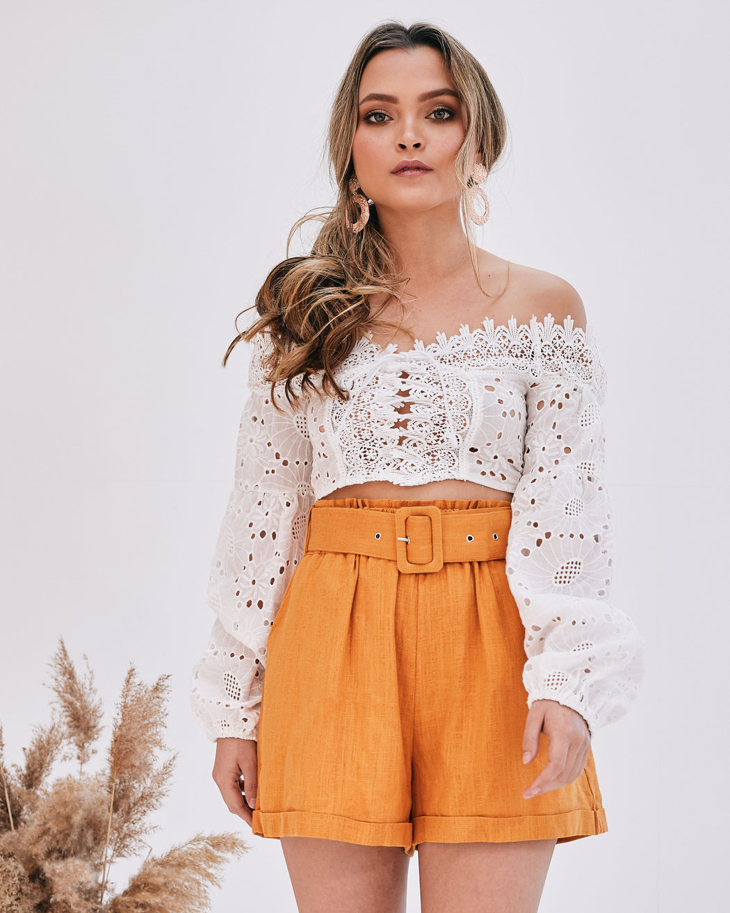 Kieri Broderie Anglaise Crop Top - Lavand Stories