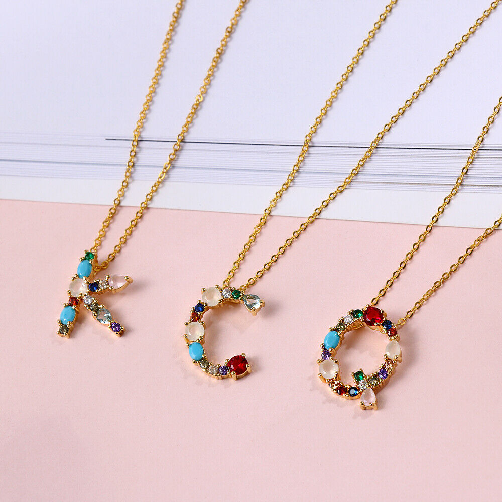 Multicolour Initial Necklace