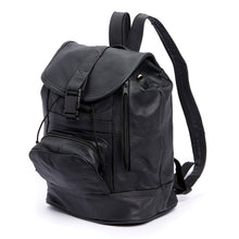 Load image into Gallery viewer, Genuine Leather Backpack with Convertible Strap Super Soft Black Color - WholesaleLeatherSupplier.com  - 1