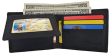 Load image into Gallery viewer, AFONiE Men's Rustic Los Angeles Stamped Wallet w/ RFID Technology