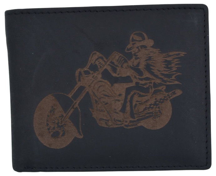 AFONiE Men's Rustic Motorcycle Wallet w/ RFID Technology