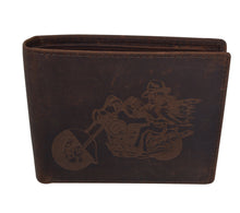 Load image into Gallery viewer, AFONiE Men's Rustic Motorcycle Wallet w/ RFID Technology