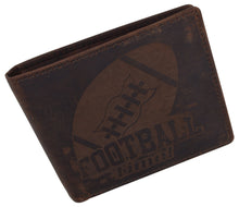 Load image into Gallery viewer, AFONiE Men's Football Stamped Wallet w/ RFID Protection