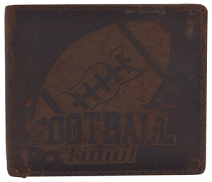 AFONiE Men's Football Stamped Wallet w/ RFID Protection
