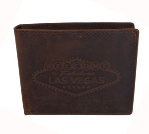 AFONiE RFID Men's Las Vegas Logo Wallet w/ RFID Protection