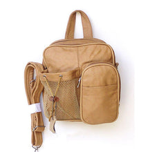 Load image into Gallery viewer, Genuine Leather Backpack - Tan Color - WholesaleLeatherSupplier.com  - 1