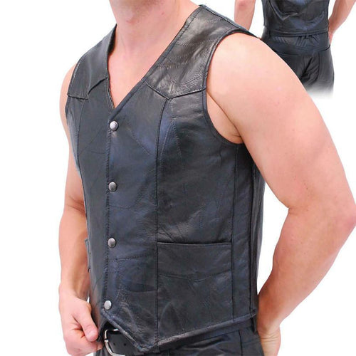 Genuine Leather Vest - WholesaleLeatherSupplier.com  - 1
