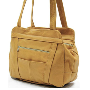 Lifetime Soft Leather Tote Bag - 7 Colors - WholesaleLeatherSupplier.com  - 4