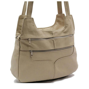 Hobo Leather Bag - Beige