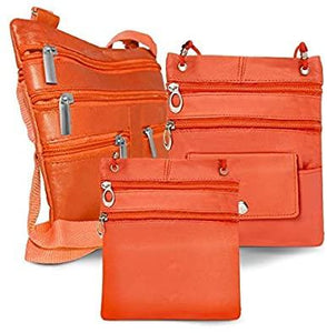 All Leather - Set Of 3 Casual On The Go Bags