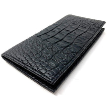 Load image into Gallery viewer, Croco Checkbook Handcrafted Wallet