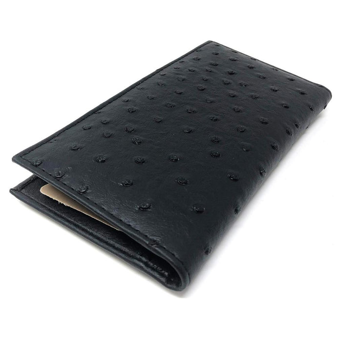 Ostrich Checkbook Handcrafted Wallet