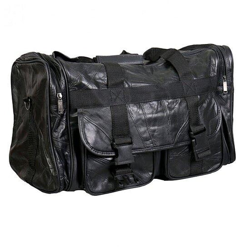 Black Leather Duffle by AFONiE™