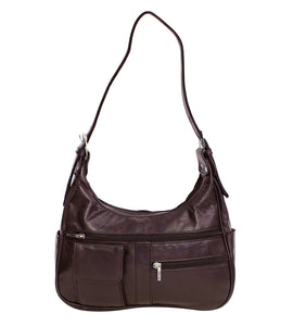 Soft Genuine Leather Shoulder Bag - WholesaleLeatherSupplier.com  - 4