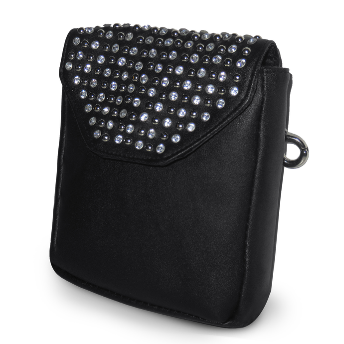 Hip Clip Pearl Studded Purse Pouch