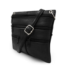 Load image into Gallery viewer, women crossbody messenger handbag black