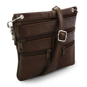 women crossbody messenger handbag brown