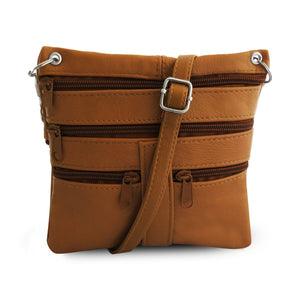 women crossbody messenger handbag tan