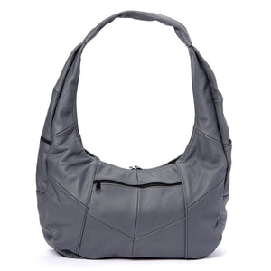 Large Top Zip Hobo Genuine Leather Rich Multi Color - WholesaleLeatherSupplier.com  - 18