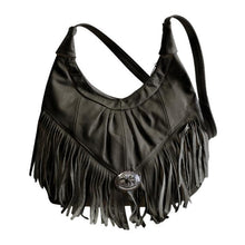 Load image into Gallery viewer, Fringe Hobo Bag - Soft Genuine Leather Multi Color - WholesaleLeatherSupplier.com  - 8