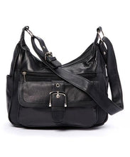 Load image into Gallery viewer, AFONiE Soft Leather Buckle Accent Purse - WholesaleLeatherSupplier.com  - 4