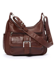 Load image into Gallery viewer, AFONiE Soft Leather Buckle Accent Purse - WholesaleLeatherSupplier.com  - 3