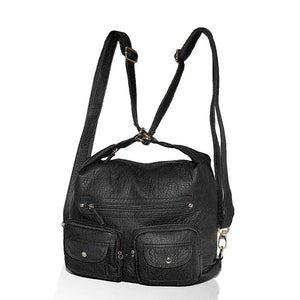 Soft Vegan Leather 3 Carry Style Bag
