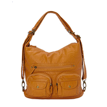 Load image into Gallery viewer, Soft Vegan Leather 3 Carry Style Bag