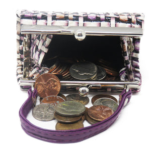 AFONiE Lipstick Kiss Lock Coin Wallet