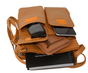 Two Fronts Leather Crossbody by AFONiE™