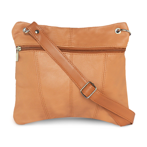 Multi Pocket Leather Crossbody by AFONiE™