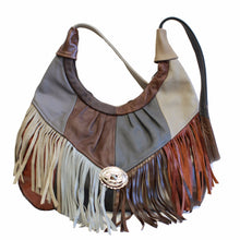 Load image into Gallery viewer, Fringe Hobo Bag - Soft Genuine Leather Multi Color - WholesaleLeatherSupplier.com  - 1