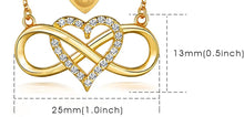 Load image into Gallery viewer, Infinity Heart Necklace