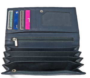 Women's Leather RFID Envelope Wallet