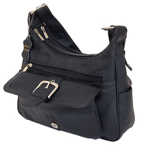 AFONiE Soft Leather Buckle Accent Purse - WholesaleLeatherSupplier.com  - 10