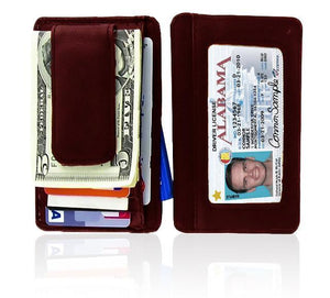 Genuine Leather Magnetic Money Clip - WholesaleLeatherSupplier.com  - 1