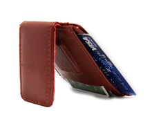Load image into Gallery viewer, Genuine Leather Magnetic Money Clip - WholesaleLeatherSupplier.com  - 4