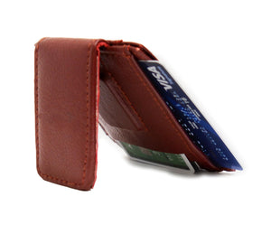 Genuine Leather Magnetic Money Clip - WholesaleLeatherSupplier.com  - 4