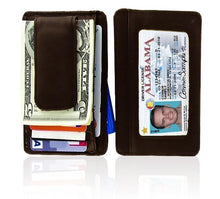 Load image into Gallery viewer, Genuine Leather Magnetic Money Clip - WholesaleLeatherSupplier.com  - 3