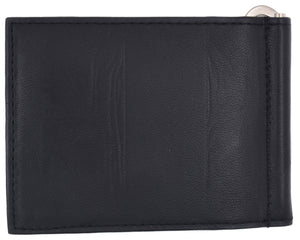 AFONiE Leather Flap Money Clip Wallet
