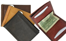 Load image into Gallery viewer, AFONiE Leather Flap Money Clip Wallet
