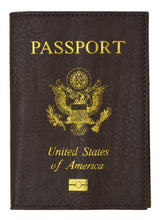 Load image into Gallery viewer, Leather USA Logo Passport Holder - Purple