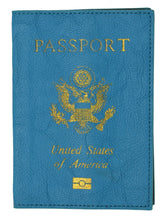 Load image into Gallery viewer, Leather USA Logo Passport Holder - Hot Pink