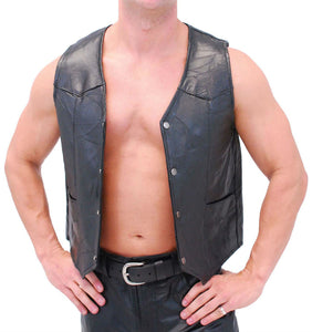Genuine Leather Vest - WholesaleLeatherSupplier.com  - 3