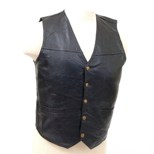 Genuine Leather Vest - WholesaleLeatherSupplier.com  - 4