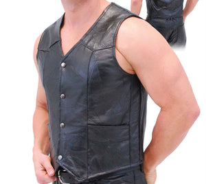 Genuine Leather Vest - WholesaleLeatherSupplier.com  - 2