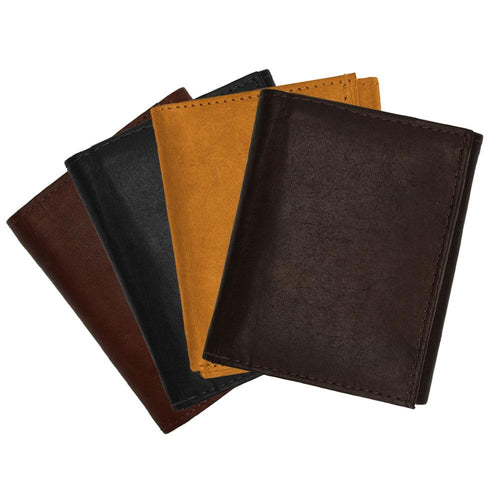 Tri-Fold Leather Wallet Men Assorted