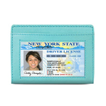 Load image into Gallery viewer, Leather Cards Holder Wallet Women Blue